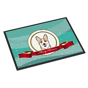 Sable Corgi Merry Christmas Indoor or Outdoor Mat 18x27