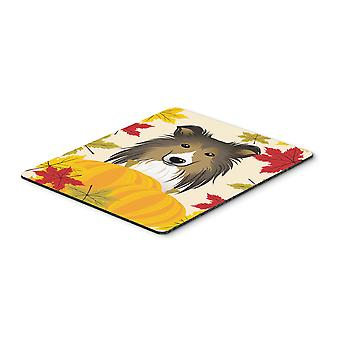 Carolines Treasures  BB2048MP Sheltie Thanksgiving Mouse Pad, Hot Pad or Trivet