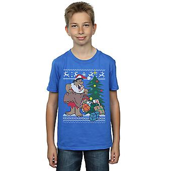 The Flintstones Boys Christmas Fair Isle T-Shirt