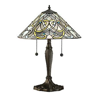 Dauphine Medium Tiffany Style bordslampa - interiör 1900 64055