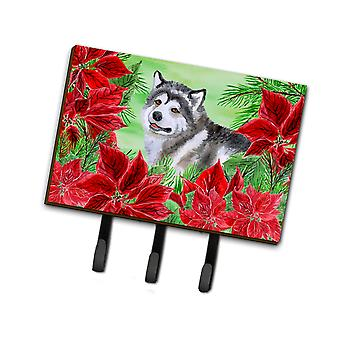 Carolines Treasures  CK1287TH68 Alaskan Malamute Poinsettas Leash or Key Holder