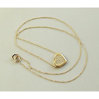 Goldene Halskette und Zirkonia-Anhänger