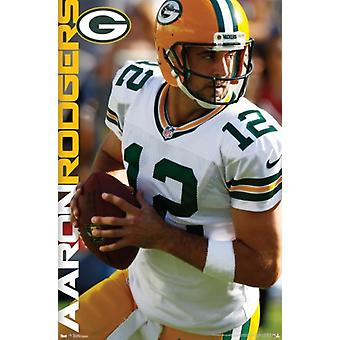 Packers - une impression de Poster Rodgers 12