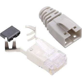 BEL Stewart Connectors SS39GRE SS39GRE RJ45 Connector CAT 6 8P8C RJ45 Plug, straight Grey