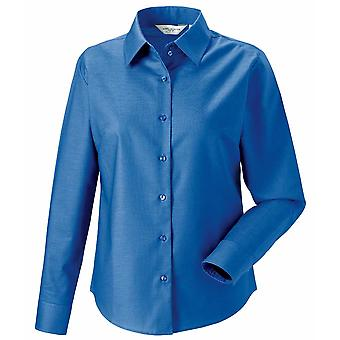 Russell Collection Ladies long sleeve Oxford shirt