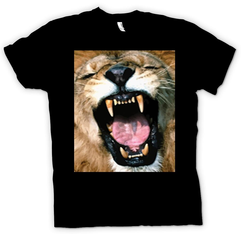 Womens T-shirt - Roaring Lion Portrait