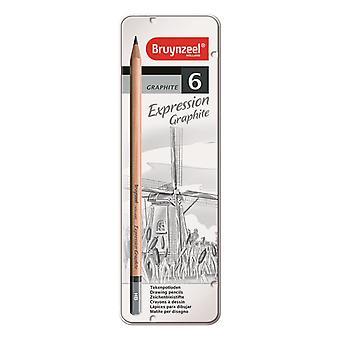 Bruynzeel Expression Graphite potlood Set van 6