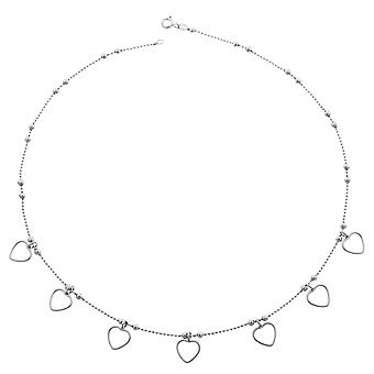 Orphelia Silver 925  Necklace 45Cm With Hearts Pendants  ZK-2710