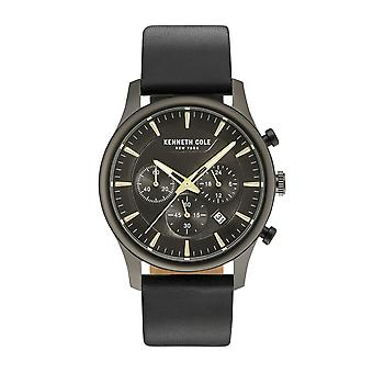 Kenneth Cole New York men's watch wristwatch leather KC15106004