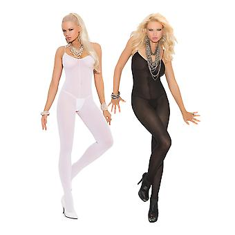 Womens Bodystocking Set- Sexy Spaghetti Strap Sheer Crotchless Bodysuit Lingerie Pack of 2
