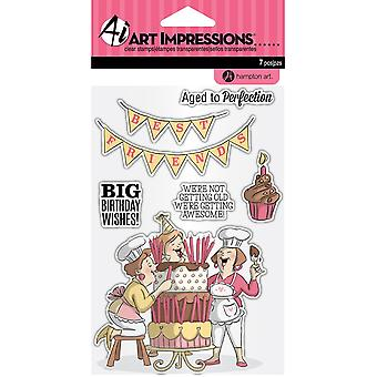Art Impressions Clear Rubber Stamps-Big Birthday Wishes
