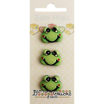 Baby Hugs Buttons-Froggy
