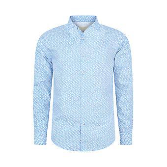 Fabio Giovanni Lucani Shirt - Mens Italian Casual Stylish Floral Shirt - Long Sleeve