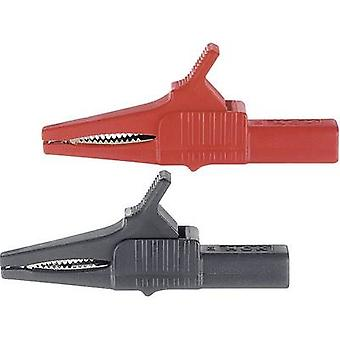 Safety terminal 4 mm jack connector CAT II 1000 V Red Stäubli XKK-1001