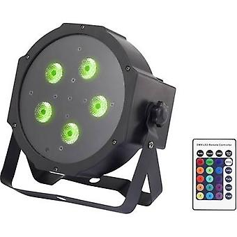 LED PAR stage spotlight Renkforce GM307 No. of LEDs: 5 x 9 W Black