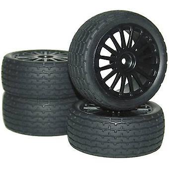 Reely 1:10 Road version Wheels S Tread 10-spoke Black 4 pc(s)