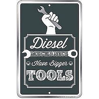 Diesel mechanica hebben grotere Tools reliëf Metal grappige Sign