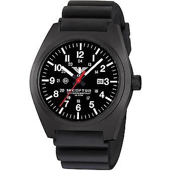 KHS acero interceptor negro reloj de KHS. INCBS. DB
