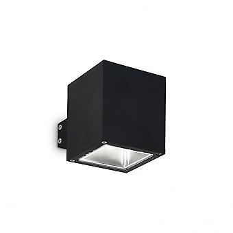 Ideal Lux Snif pared luz cuadrado negro