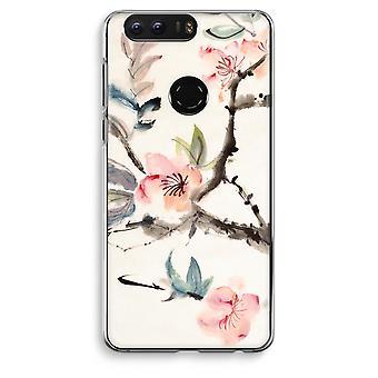 Honor 8 Transparent Case (Soft) - Japenese flowers