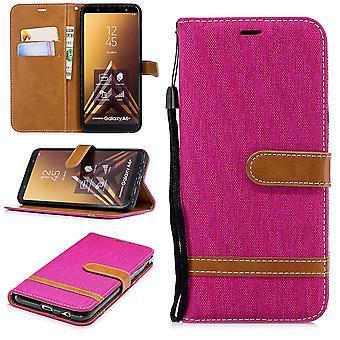Samsung Galaxy A6+ Plus 2018 Handy-Hülle Schutztasche Case Cover Kartenfach Pink