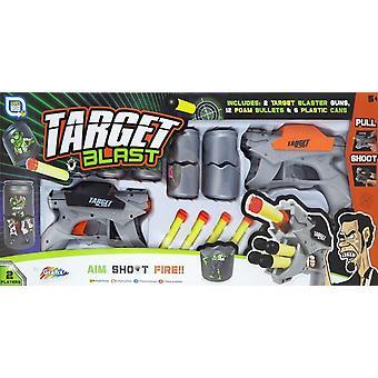 Grafix 2 Pleyer destinazione Blast plastica insieme della pistola con proiettili di gomma piuma