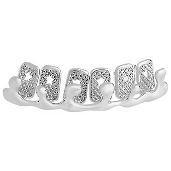 One size fits all top Grillz - bling drip silver