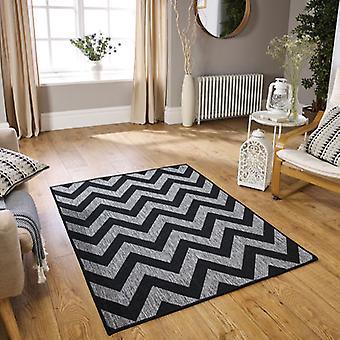 Moda Flatweave svart Chevron löpare mattor Plain/nästan slätt mattor