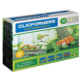 Clicformers Mini Insect Set 4 in 1 Animal 30 PCS Building and Construction Toy