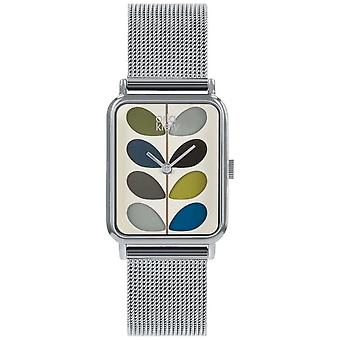 Orla Kiely Ladies Avery Stem | Stainless Steel Mesh Strap | OK4083 Watch