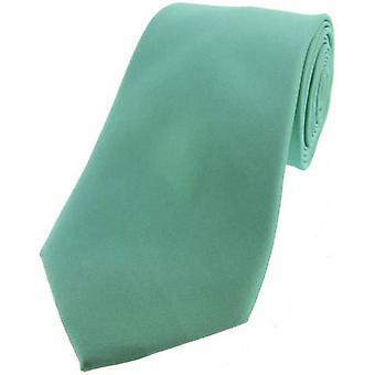Satynowy krawat jedwabny David Van Hagen - mięta