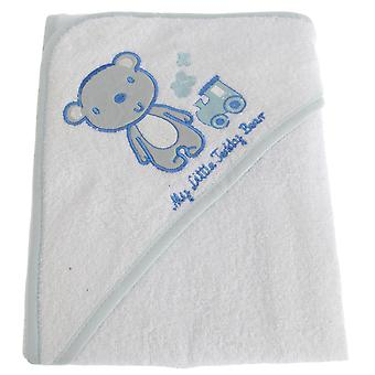 Snuggle Baby Baby Boys My Little Teddy Bear Hooded Towel