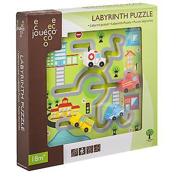 Joueco - Labyrint puzzel stad/boerderij
