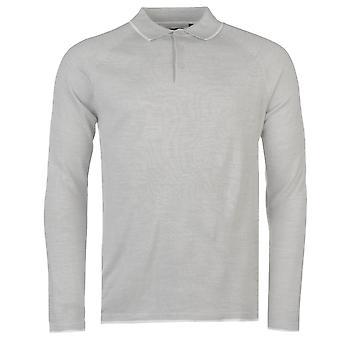 Pierre Cardin Mens Knitted Long Sleeve Polo Jumper Sweater Pullover Raglan