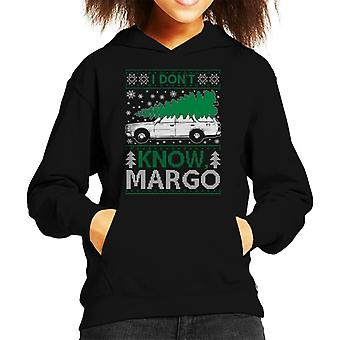 National Lampoon Margo Christmas Knit Pattern Kid's Hooded Sweatshirt