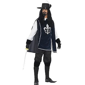 Musketeer male costume, with top,