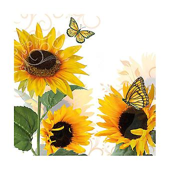 Ambiente 3 Ply Paper Napkins, Sunny Butterfly