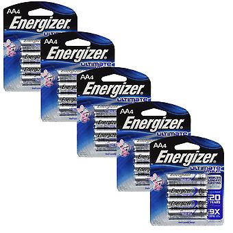 Energizer L91 (5 Packs) Ultimate Lithium Battery AA Size