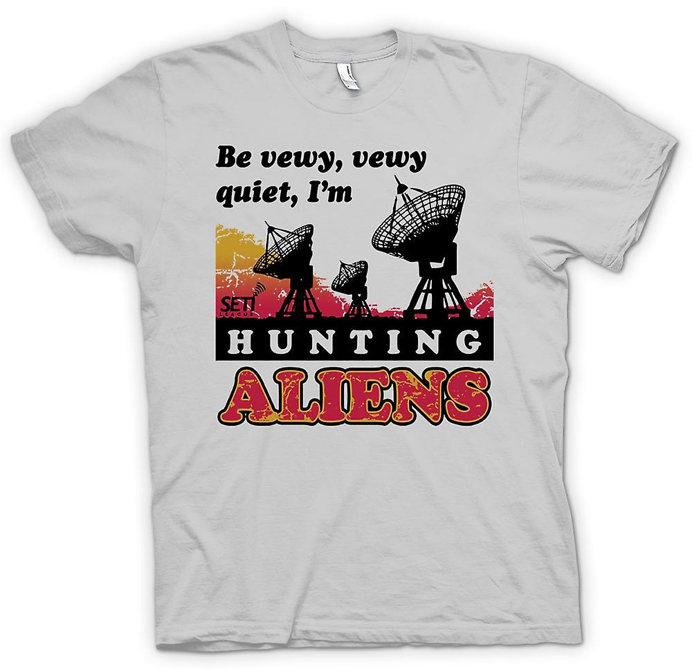 Mens t-skjorte - SETI - UFO - Alien jegere - astronomi