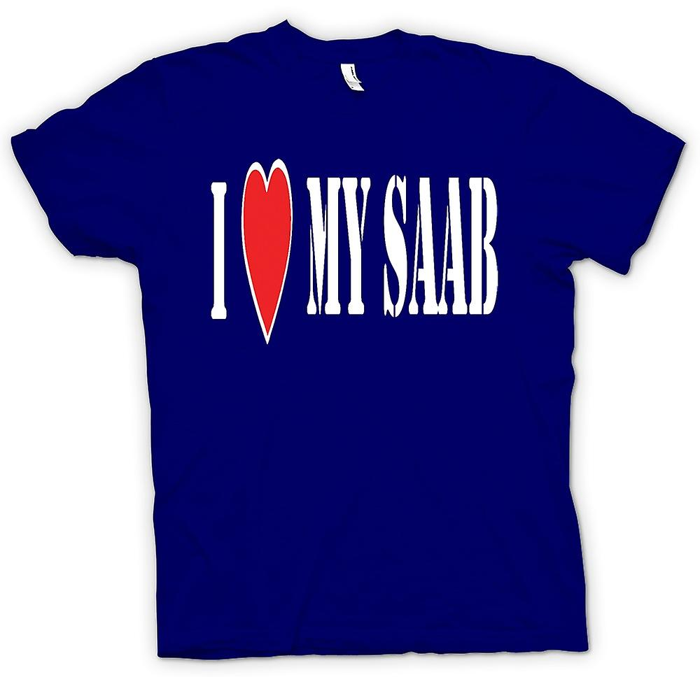 Mens T-shirt - j'ai LoveMy Saab - voitures Fun