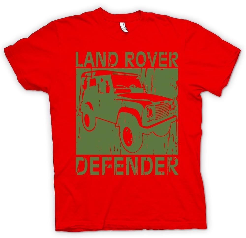 Hommes T-shirt - Landrover Defender Offroad