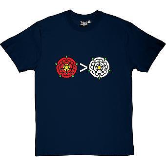 Lancashire ist größer als Yorkshire Herren T-Shirt