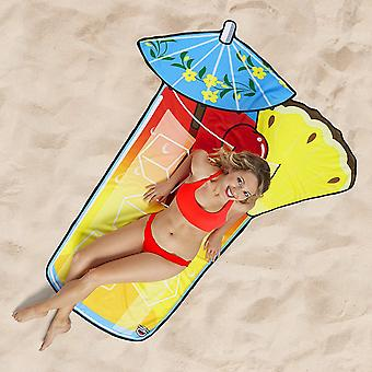 BigMouth Gigantic Tropical Drink Beach Blanket Outdoor Summer Water Picnic Pool