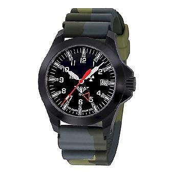 KHS watches mens watch black platoon GMT LDR KHS. BPGLDR. DC3