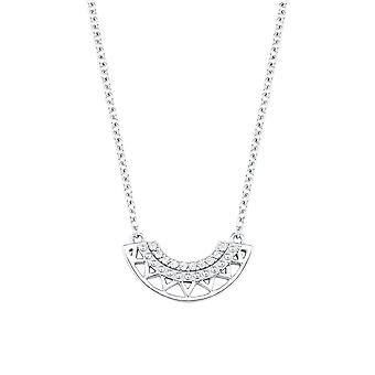 s.Oliver jewel ladies chain necklace silver cubic zirconia 2024316