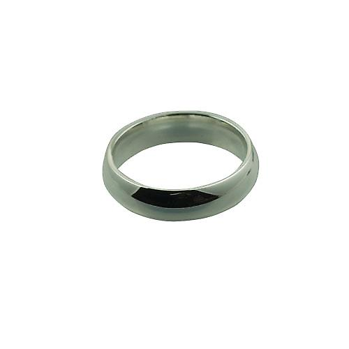 Silver 6mm plain Court wedding ring