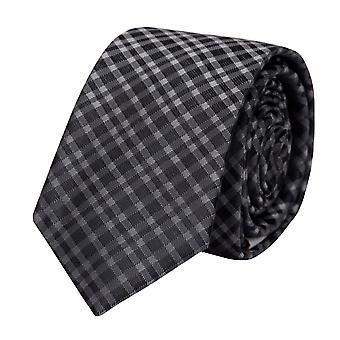 Tie tie tie tie 6cm black and anthracite Fabio Farini squared