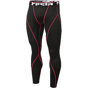 Tesla YUP33 Thermal Winter Gear Baselayer Compression Pants - Black/Red