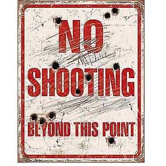 No Shooting Beyond This Point Metal Sign    (de)