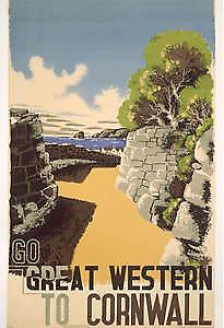 GWR to Cornwall (old rail ad.) fridge magnet (se)